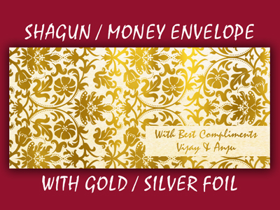 Personalised Golden / Silver Foil Printed Envelopes in India